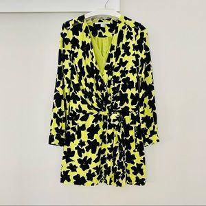 Diane Von Furstenberg, faux wrap, silk dress